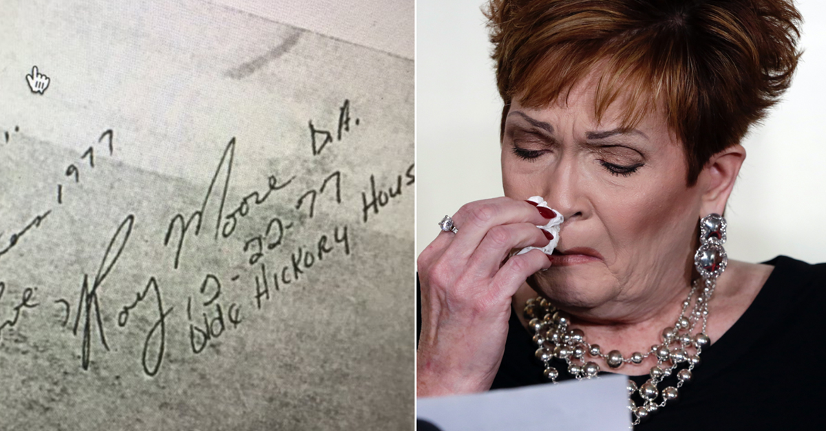 Roy Moore's 5th accuser shows off the memento of her past that he left her with