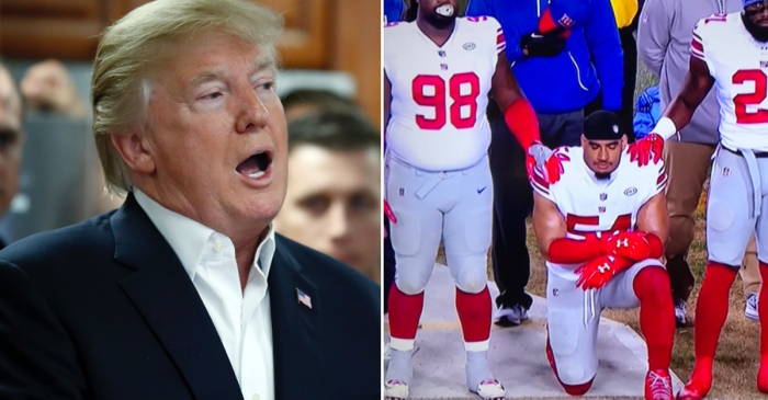 Thanksgiving is over and President Trump is piping mad about a player who took a knee