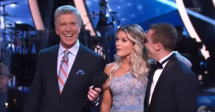 """DWTS"" pro Witney Carson responds to Tom Bergeron's cringe-worthy comment on Monday's show"