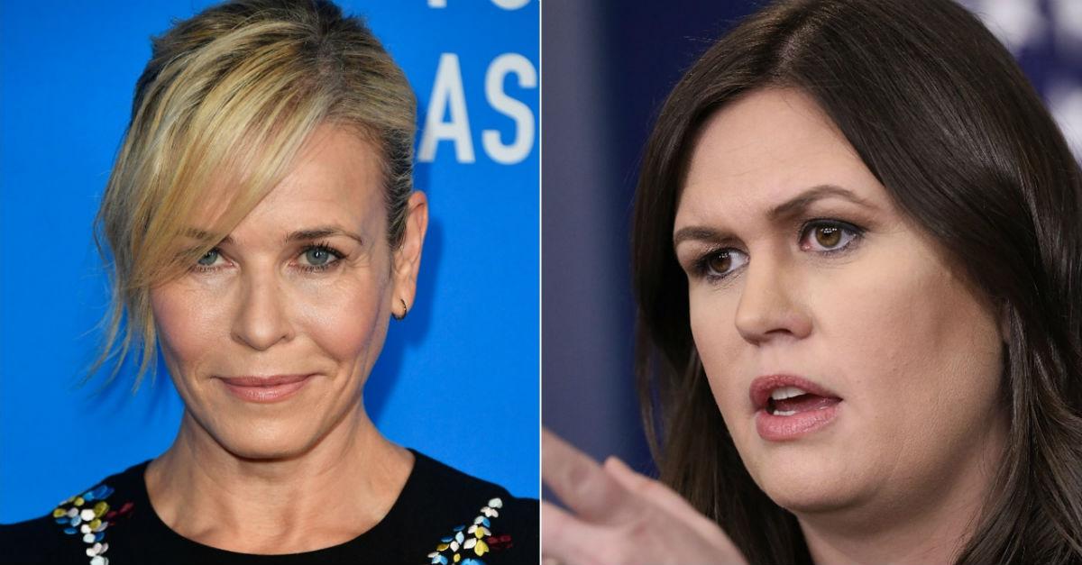 """Days after calling her a """"harlot,"""" Chelsea Handler made a cruel joke about Sarah Huckabee Sanders"""