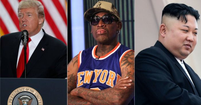 Dennis Rodman thinks he's the best chance at fixing Trump and Kim Jong-un's relationship