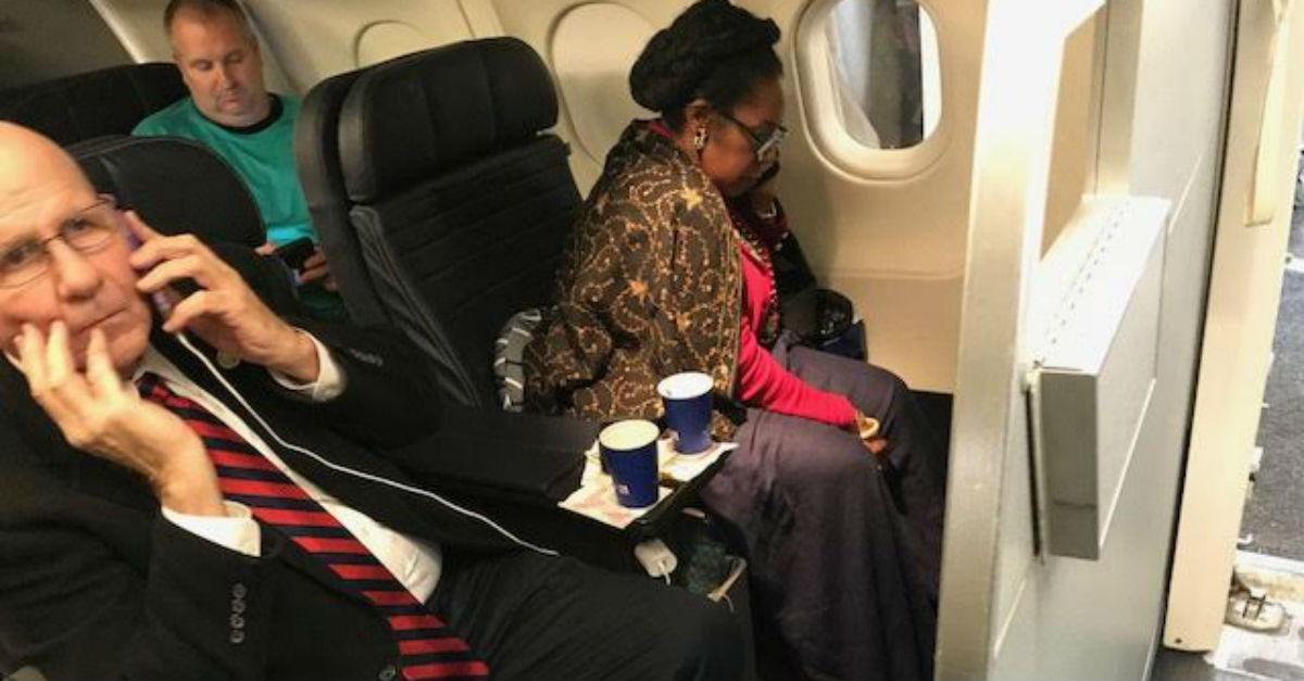 Sheila Jackson Lee takes someone's seat