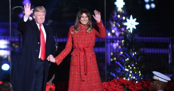 President Trump and First Lady Melania give their first White House Christmas greeting