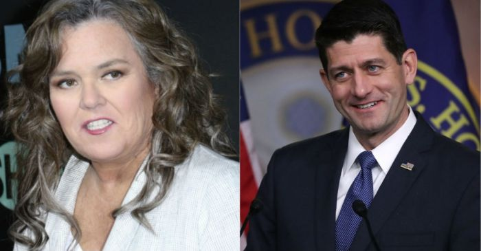 Rosie O'Donnell's despicable message to Paul Ryan was far from Christmas cheer
