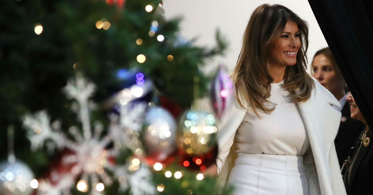 The First Lady couldn't even share a Christmas photo without getting criticized