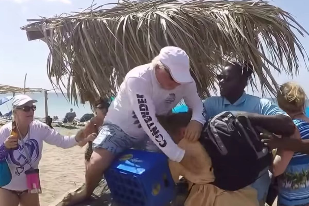 Old Dudes' Vacation Beach Brawl was Big Trouble in Paradise
