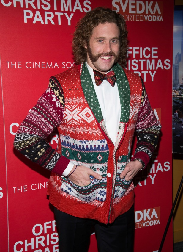 'Tis the season for celebrities to rock their wonderful ugly Christmas sweaters