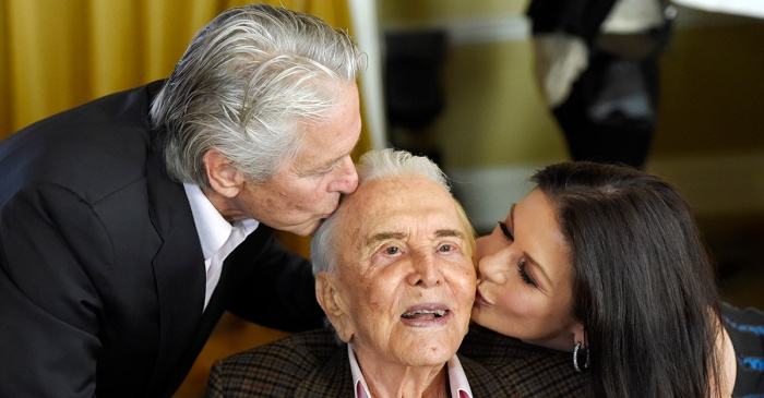 Legendary actor Kirk Douglas turned 101, and his family celebrated him in the sweetest ways