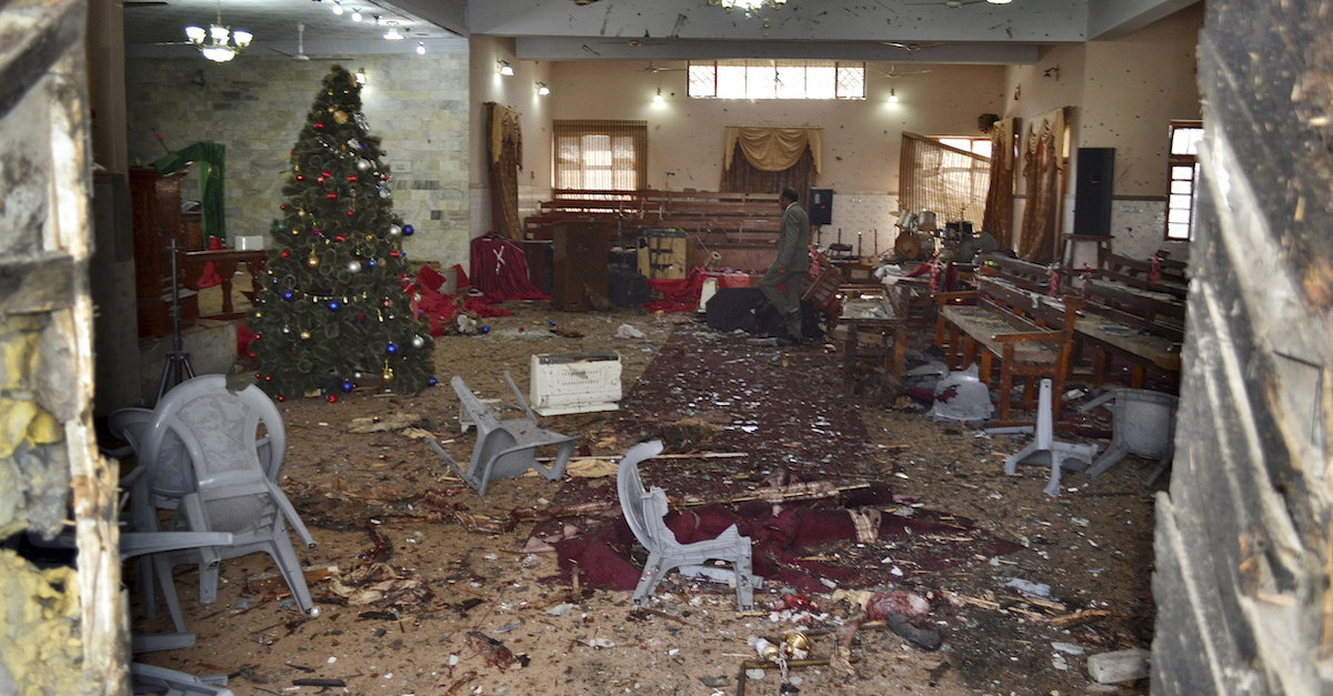 Christians were murdered by terrorists this morning as they attended church just before Christmas