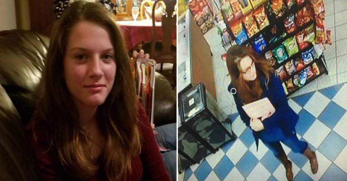 Spotted by convenience store surveillance, a missing Katy teen is on her way home