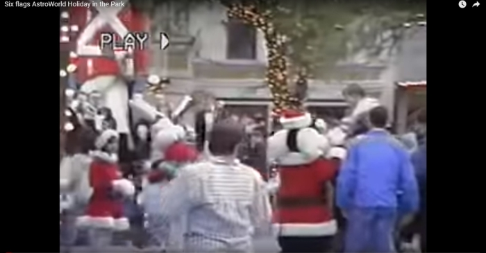 Houston's having a blue Christmas without you, AstroWorld, but we're dong all right, thanks to this 1992 holiday footage