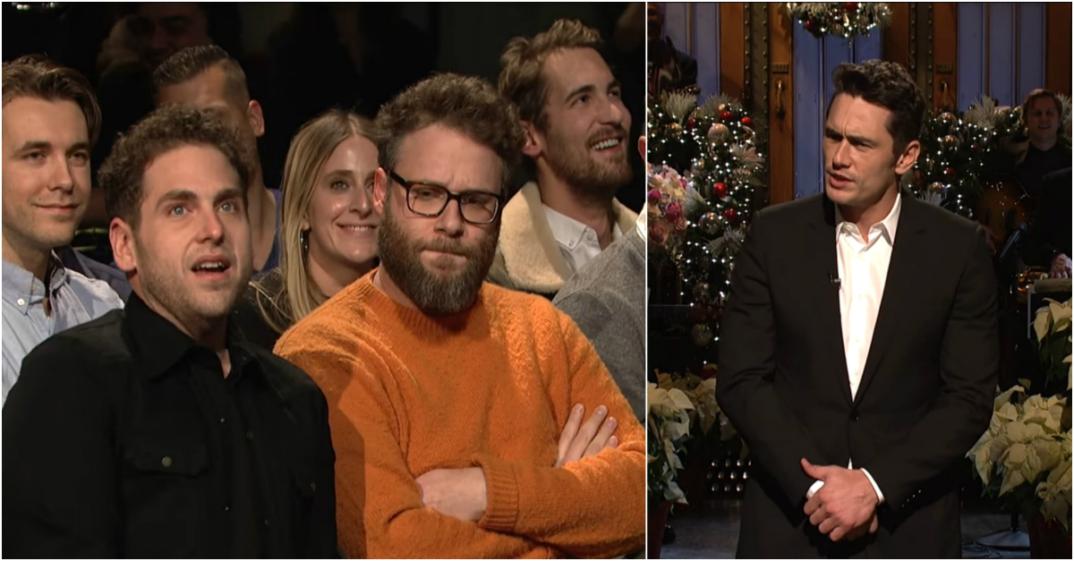 "James Franco's ""SNL"" Monologue Gets Interrupted, and the Internet Loves It"