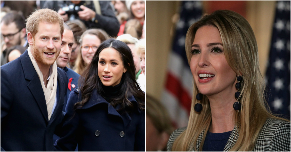 Three weeks after they announced their engagement, Ivanka Trump congratulates Prince Harry and Meghan Markle