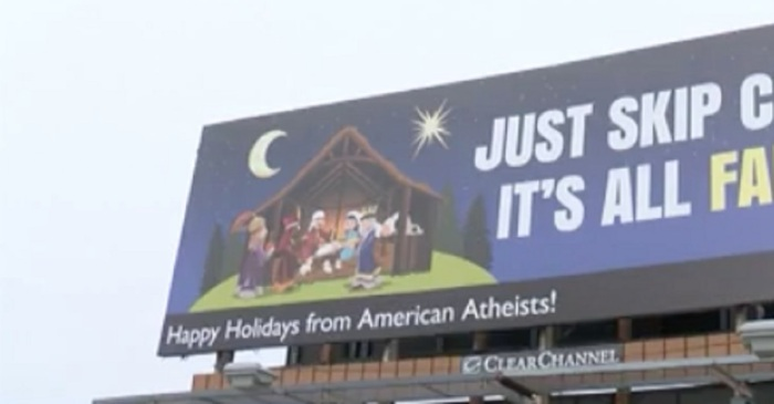"Atheists say this new anti-Christmas billboard is about ""thinking,"" but believers say it is an attack"