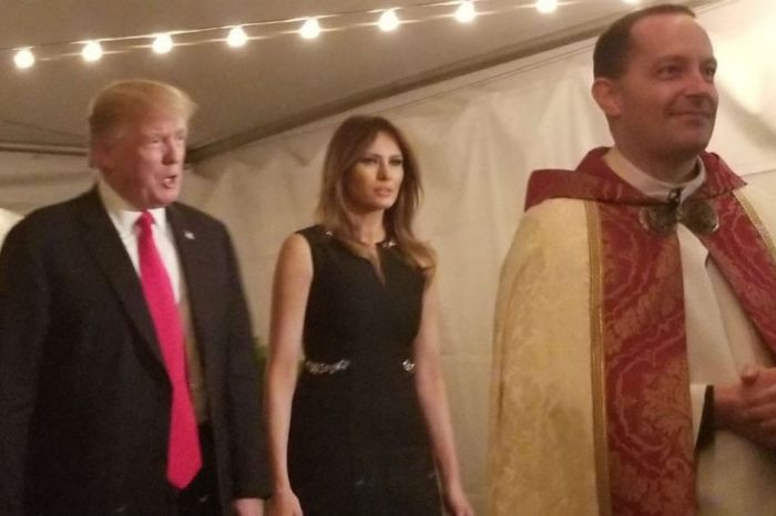 President Trump and Melania's Christmas Eve church visit earned a warm welcome from worshipers