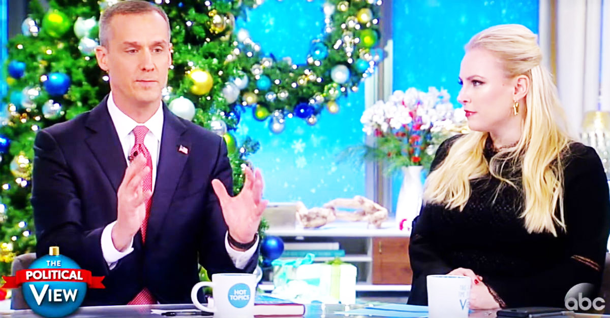"Donald Trump's ex-campaign manager exploded on ""The View"" in defense of his president"