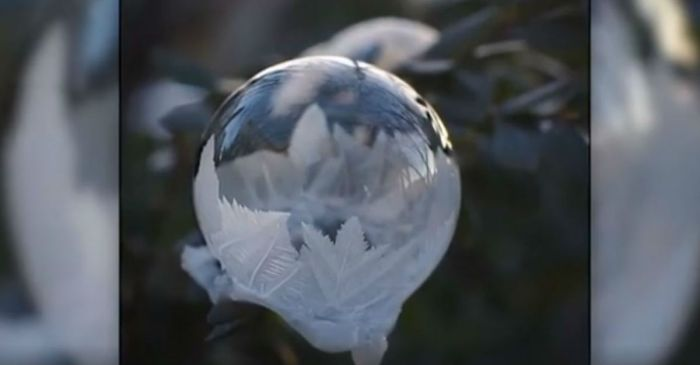 It's so cold in Ohio right now that a woman froze a bubble — and we can't look away