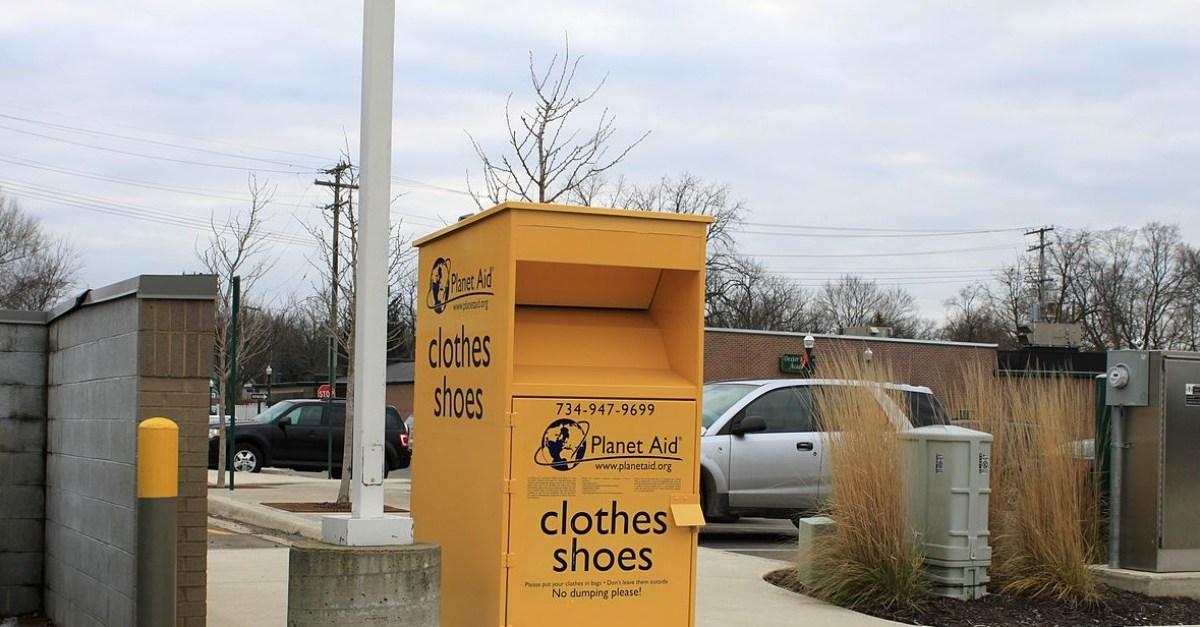 Ravenswood clothing donation box set on fire, body found