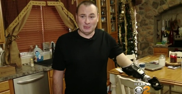 A former police chief has a new prosthetic arm, and he wants his old job back — but his town disagrees