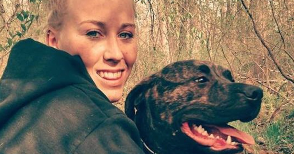 A friend of a woman mauled to death by her pit bulls in the woods doubts that's what really happened