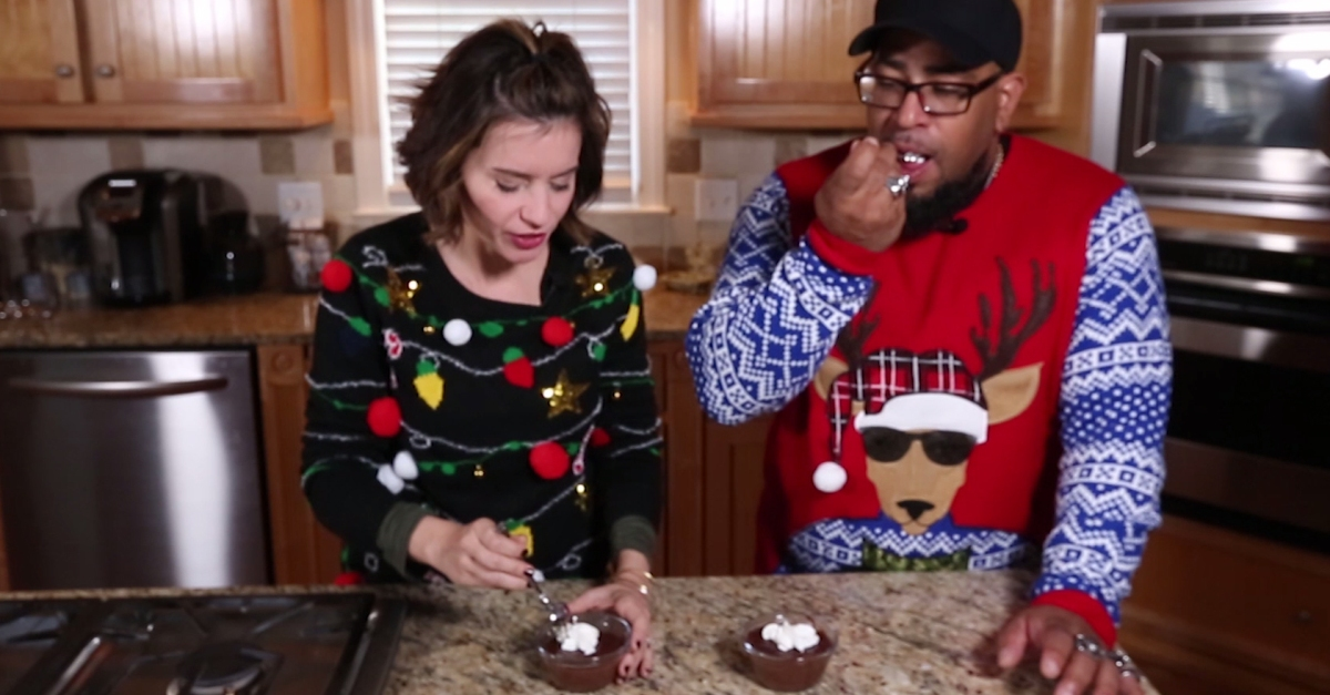 "Tyson shares his German grandmother's famous ""crunchy"" chocolate pudding recipe for Christmas"