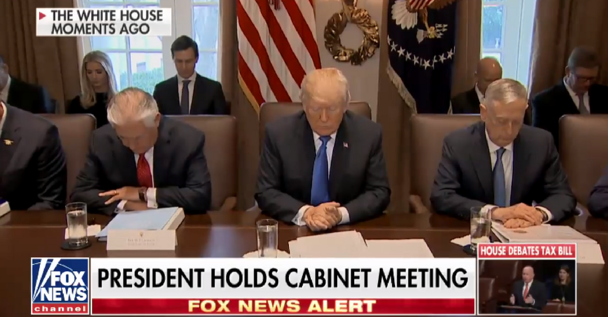 Ben Carson brings prayer back to the White House as the GOP tax bill heads to the president's desk