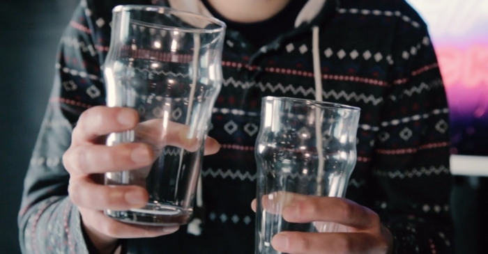 Separate 2 glasses without touching them by performing this simple bar trick