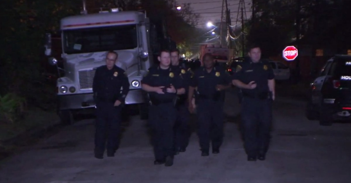 A hostage situation in north Houston ends after a U-Haul chase and a gunfire standoff