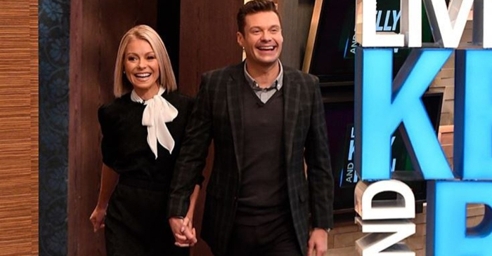 "Kelly Ripa showed ""Live!"" co-host Ryan Seacrest some love on his 43rd birthday"