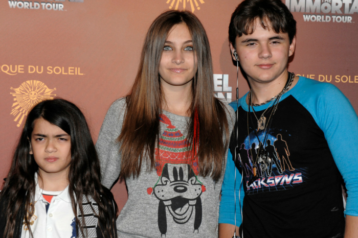 Paris Jackson shared a rare look at little brother Blanket during her family's Christmas celebrations