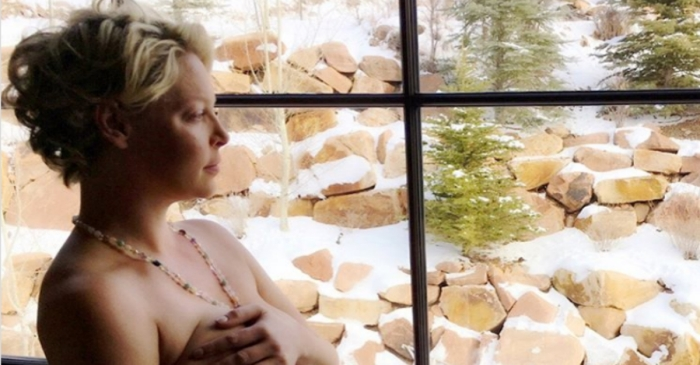 Katherine Heigl shares a racy photo as she looks back on the difficult birth of her third child