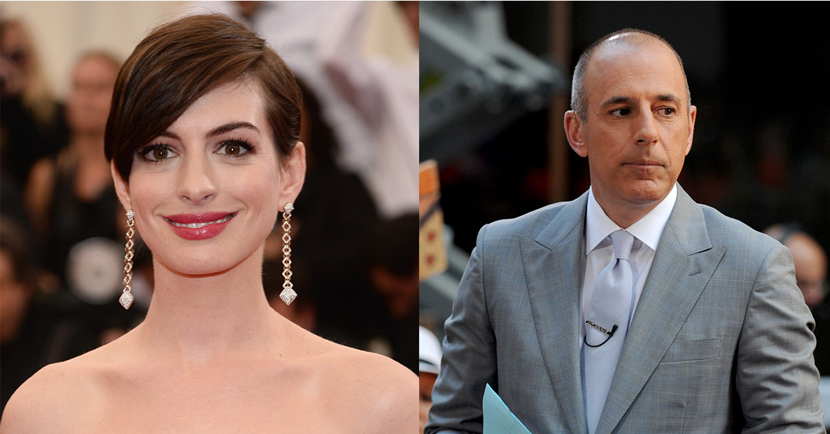 Matt Lauer's creepy resurfaced interview with Anne Hathaway is turning stomachs online