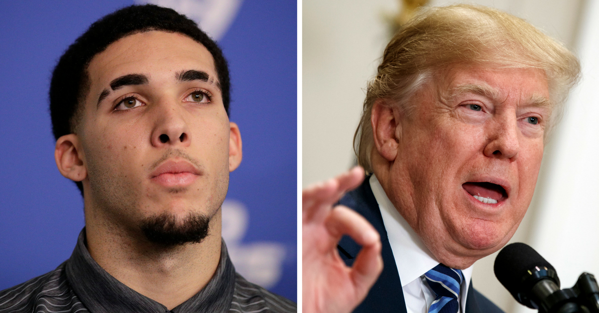 Shoplifter LiAngelo Ball fuels his family's feud with President Trump by revealing why he thanked him