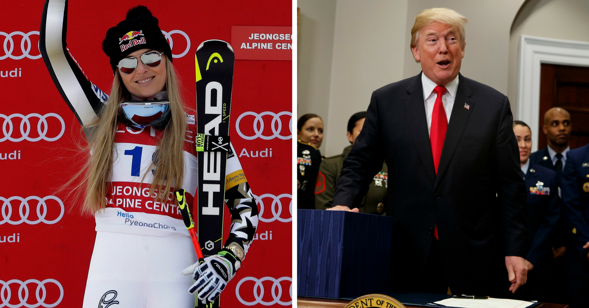 Here's what people have been saying to Olympic skier Lindsey Vonn since publicly rejecting Trump