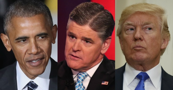 "Sean Hannity claims former President Obama has a ""twisted"" obsession with President Trump"
