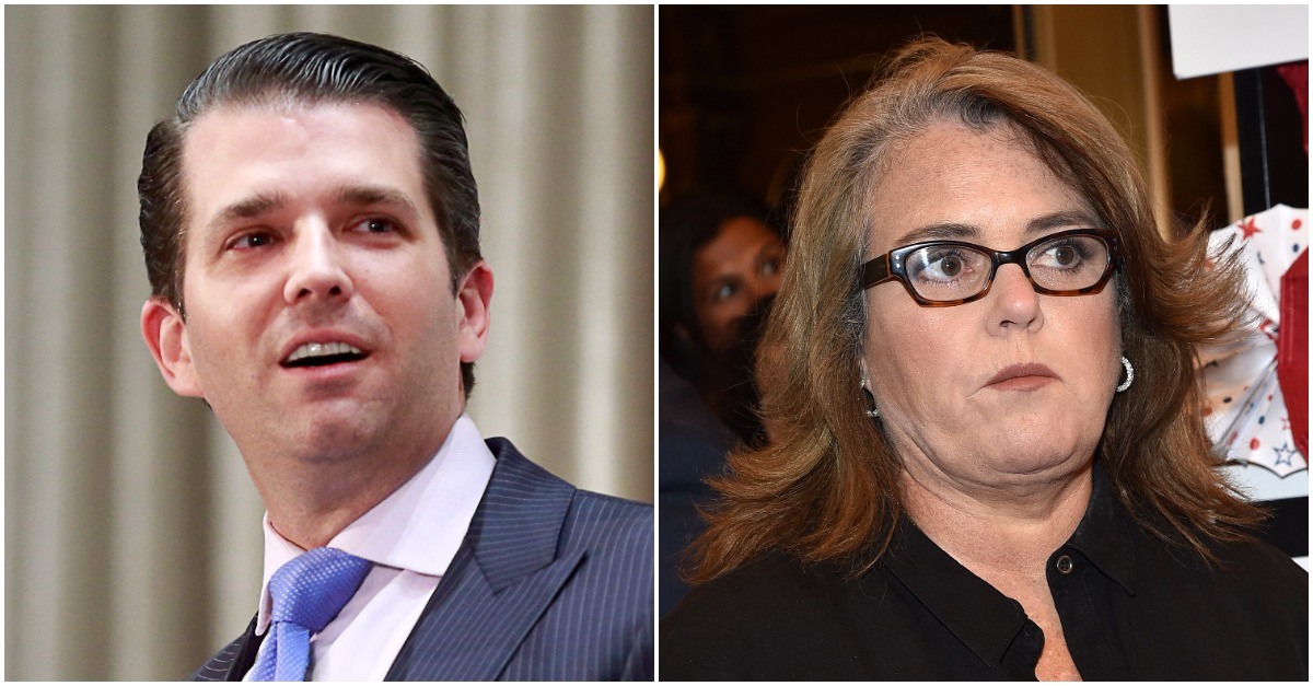 Rosie O'Donnell and Donald Trump Jr. weigh in on Al Franken's resignation after the Minnesota senator resigns in disgrace