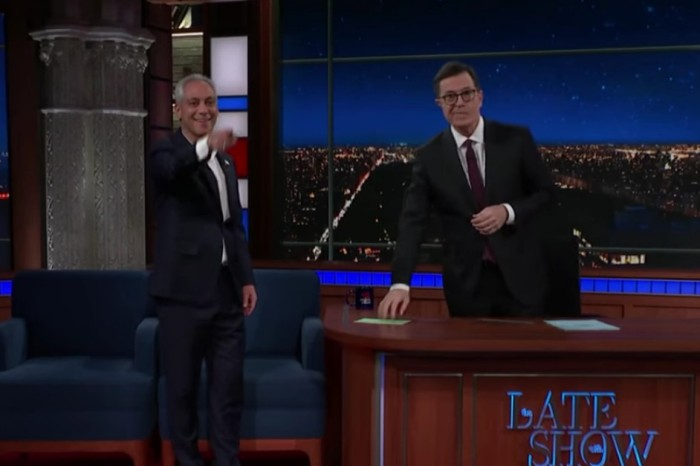 """Mayor Rahm Emanuel doubles down on his """"Chicago is a Trump-Free Zone"""" comments on the Late Show With Stephen Colbert"""