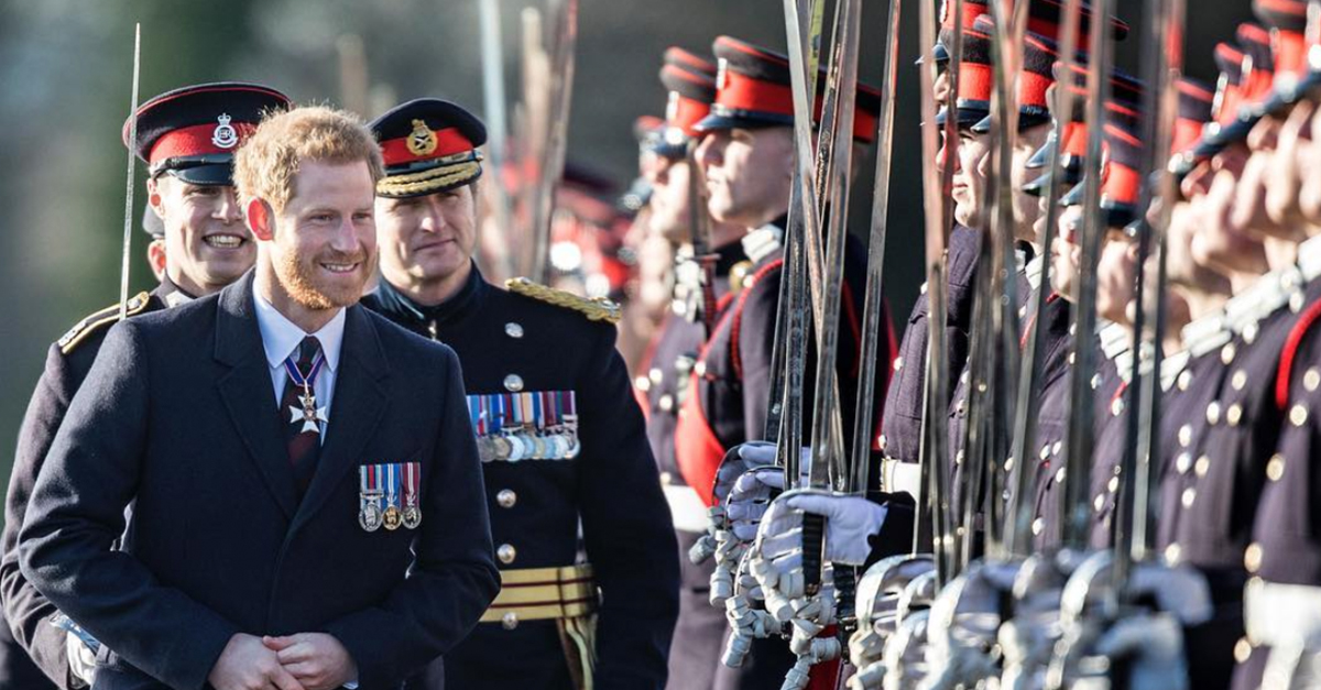 After his big engagement news, Prince Harry steps out by himself for the Sovereign's Parade