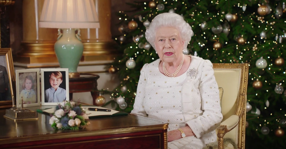 Queen Elizabeth II gave a special Christmas address honoring the victims of terror in her country this year