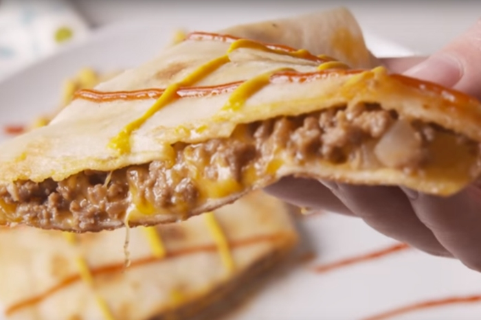 Turn your regular burger into a quesadilla burger because why not?