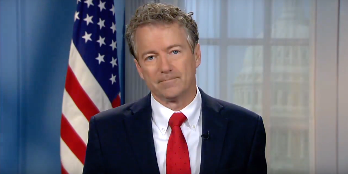 "Rand Paul says he won't vote for spending bill that adds to ""already massive $20 trillion debt"""