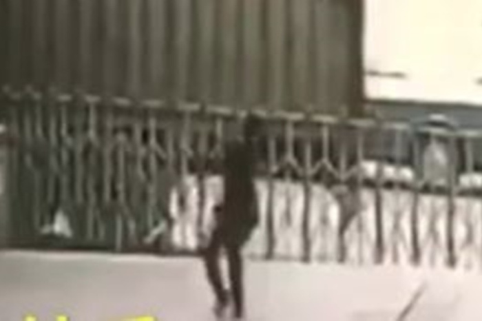 A hero security guard met his end in a freak incident when a suicidal woman launched herself off a ledge