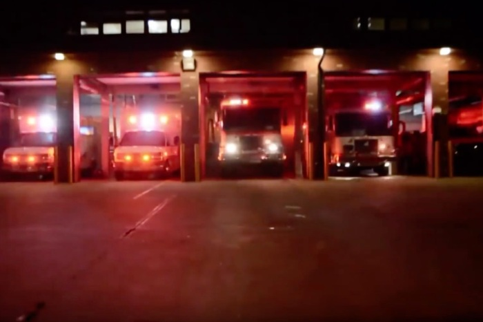 "A fire department's truck light show synced to ""Carol of the Bells"" already has us in the holiday spirit"