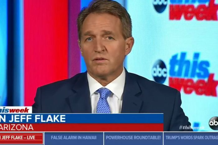 Republican Senator Jeff Flake is actually comparing President Trump to Joseph Stalin