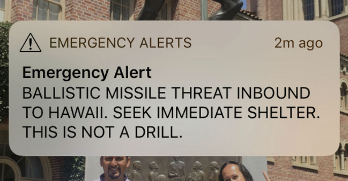 The state employee who pressed the Hawaii panic button has learned the consequences