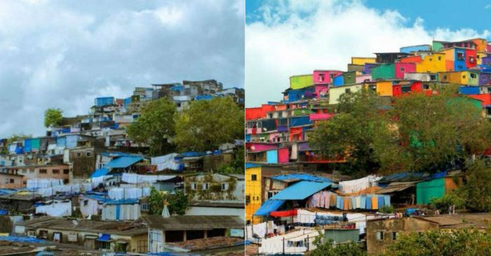 Slum gets a colorful makeover — and it's a stunning work of art