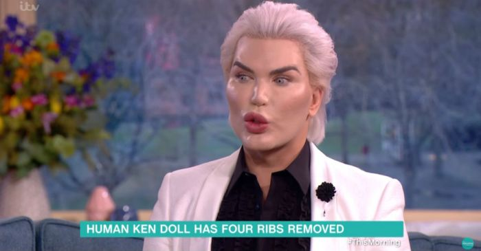 "We can't get over that time the ""Human Ken Doll"" brought his ribs with him on TV"