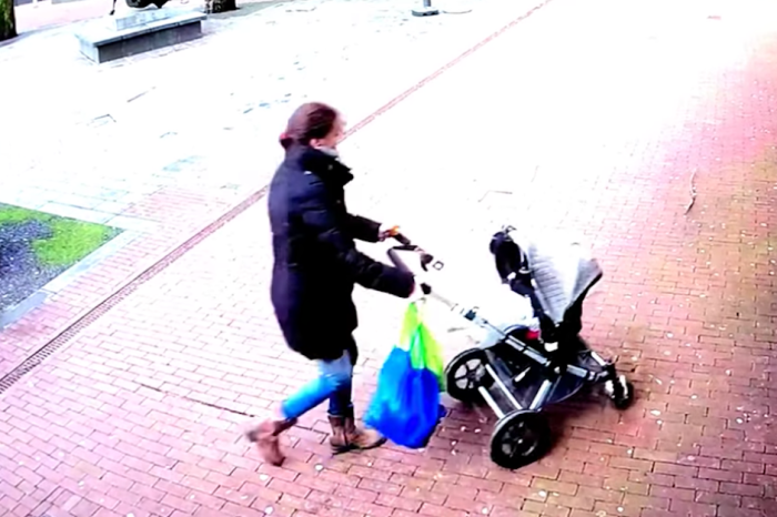 Insane Video Shows Huge Tree Falling Inches From Mom and Baby in Stroller