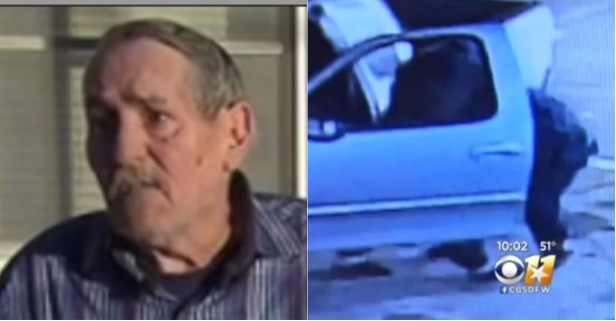 Security Footage Shows Elderly, Disabled Navy Vet Give Carjacker a Serious Fight