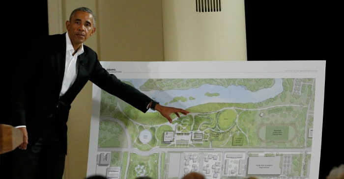 Protests disrupt press conference about updates with the Obama Presidential Center